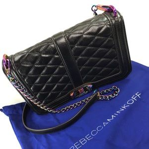 Rebecca Minkoff Love Crossbody Bag Black Oil Slick